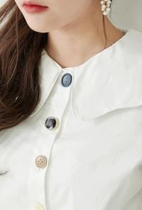 Onyx Button Blouse