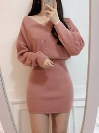 Queens knit mini dress / Sequential delivery after 26 days!