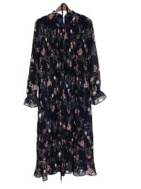 Chiffon Eli Flower Long Dress