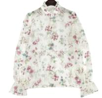 TWINKLE FLOWER SEETHROUGH BLOUSE