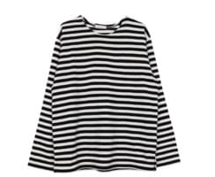 Loose fit stripe knit