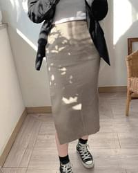 h line check Midi long skirt 2 color