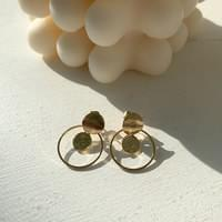 Unit Round Earrings