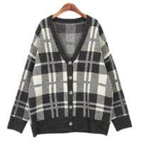 Flow check cardigan