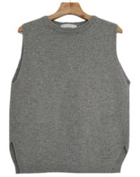 Nice Slit Wool Knit Vest