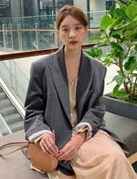 Heather boxy tailor jacket_S