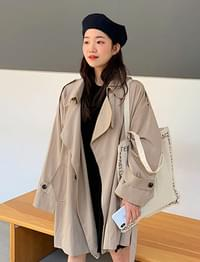 Twig half trench coat_M