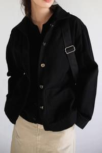 patch pocket cotton jacket (2colors)