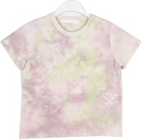 color dyeing mini t-shirt