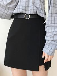 Eco-wrap st belt skirt