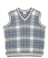 v-check knit vest (4 color) - UNISEX
