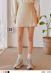 NOVEN SET-UP SLIT MINI SKIRT