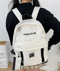 Stan webbing backpack with pouch ♡