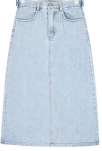 glow a-line denim skirt