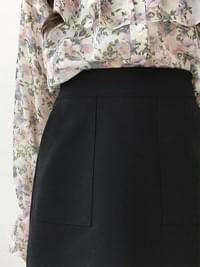 Animation Pocket Skirt Pants