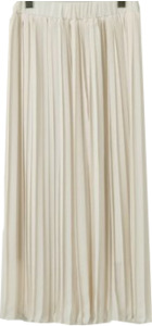 Vanilla pleats long skirt_YK (size : free)