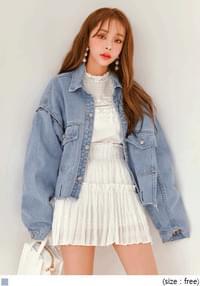 MILLY UNIQUE BOXY DENIM JACKET