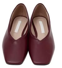 Sharp square flat shoes_K