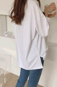 PBP. Soft Tan Tan Loose Fit Gut Tee