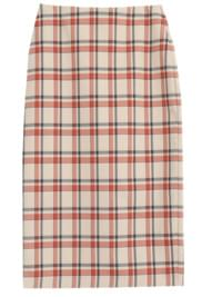 Rubber Check Midi Skirt