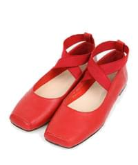 girl x-banding flat shoes