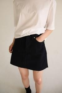 cutting cotton mini skirt