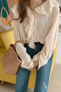 Ruffle Natural Blouse