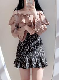 Honey off shoulder ruffle blouse