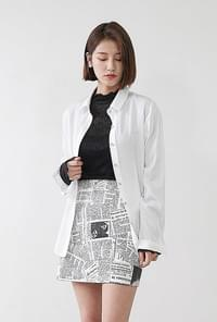 Ring-out silky shirt