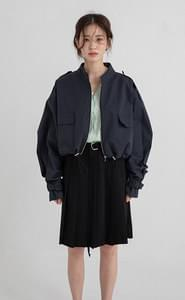 Cord cropped jacket