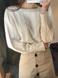 Square Lily Check Blouse