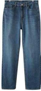 straight fit washing maxi denim