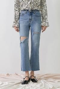 Corduroy denim pants
