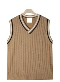 School twisted knit vest