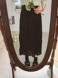 Chiffon mode pleated long skirt