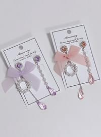 Coze pearl ribbon earrings