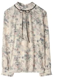 Lydia Flower Ribbon Blouse