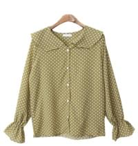 Dot pattern casual blouse