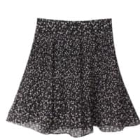 Love Flower Pleated Mini Skirt