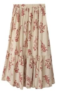Romantic pleated skirt