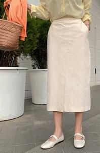 Clean cotton midi skirt