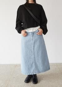 Weissing denim skirt