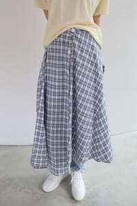 check sleeve skirt (2colors)