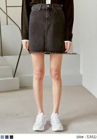 CLEF A LINE DENIM MINI SKIRT