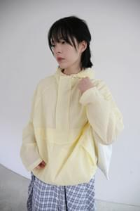 thin see-through hoody anorak (3colors)