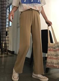 Almond Straight Slacks
