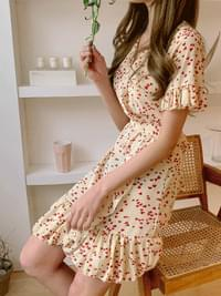 Chiffon bling heart wrap dress