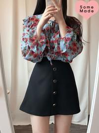 Same day delivery, self-made ♥ Aussie flower ruffle blouse