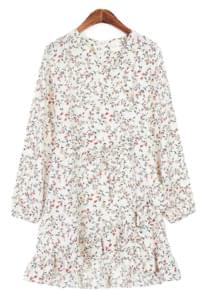 The Anmo V-neck Flower Dress