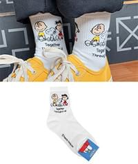 Lettering Snoopy Socks